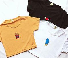 Diy Clothes Videos, Tee Shirt Designs, Tee Shirts, Tees, Crop Tops, Tank Tops, Indigo, Polo Ralph Lauren, Fashion Outfits