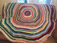 Handmade crochet round scrapghan by SimplySouthernCroche on Etsy