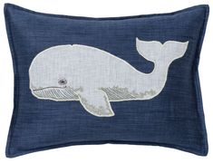 Find ocean pillows and more from Coral & Tusk. Shop unique embroidered linen accent and throw pillows to add style and comfort to your home. Applique Pillows, Felt Applique, Throw Pillows, Accent Pillows, Woodland Critters, White Whale, Felt Embroidery, Linen Fabric, Decorative Pillows