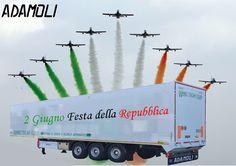 Adamoli, in occasione della Festa della Repubblica la ditta sarà chiusa il 2 e 3 giugno 2016! L'attività riprenderà regolarmente lunedì 6 giugno. Viva l'Italia #FestadellaRepubblica #MadeinItaly #semirimorchio #walkingfloor #pianomobile #pianalemobile #movingfloor #tricolore