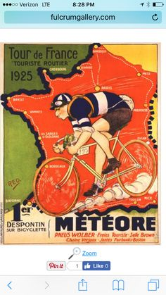 Shop for 1925 Tour de France Bicycle Race Paris France Vintage Travel Art Poster Print. Get free delivery On EVERYTHING* Overstock - Your Online Art Gallery Store! Map Vintage, Velo Vintage, Vintage Cycles, Poster Vintage, Vintage Travel Posters, Vintage Golf, Poster Bike, Retro Poster, Kunst Poster
