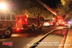 Hollywood Park Fire November 2008 (photos by Pete Templin)