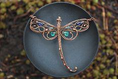 Dragonfly Pendant by twistedjewelry.deviantart.com on @DeviantArt