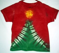 Tie Dye Christmas t shirt with Christmas Tree by RedeemedByRed