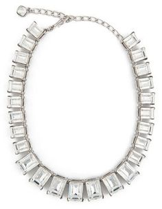 Kenneth Jay Lane Rectangle Crystal Necklace on shopstyle.com