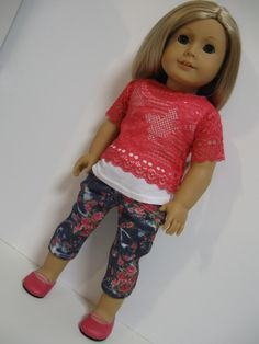 American Girl Doll - Floral and Lace. $25.00, via Etsy.