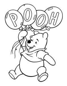 winnie the pooh coloring pages coloring pages for toddlers - Pooh Bear Coloring Pages Birthday