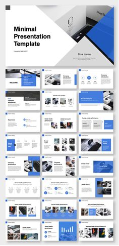 Blue Company Introduction & Business Plan Presentation Template – Original and high quality PowerPoint Templates download #presentation #fashion #PowerPoint #design #template #ppt #art #simple