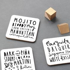 cocktail coaster set by old english company | notonthehighstreet.com
