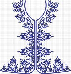 البترونات فتلة Medieval Embroidery, Folk Embroidery, Hand Embroidery Designs, Ribbon Embroidery, Embroidery Stitches, Embroidery Patterns, Machine Embroidery, Bordado Floral, Neckline Designs