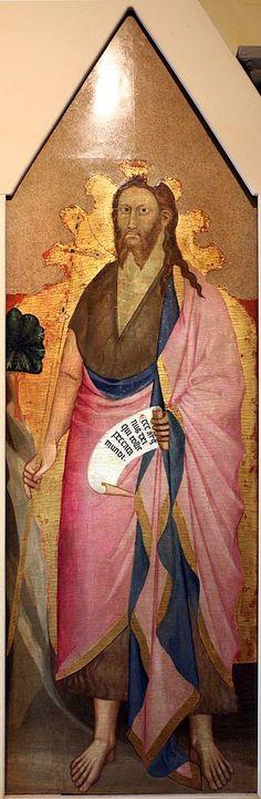 Giovanni del Biondo - Trittico di San Donnino: San Giovanni Battista - 1386 - Museo d'Arte Sacra di San Donnino, Campi Bisenzio (Firenze)