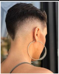 Stylish Short Fade Haircut For Women 09 Short Fade Haircut, Short Hair Cuts, Short Hair Styles, Vibrant Hair Colors, Really Short Hair, Pelo Pixie, Edgy Hair, Shaved Sides, Blonde Women