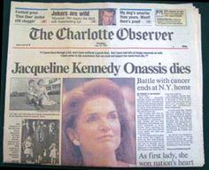 After a valiant battle against cancer, Jacqueline Kennedy succumbed to the deadly disease in 1994.