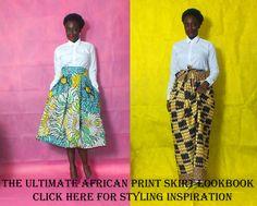 Ankara skirt, African print skirt
