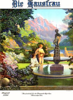 Die Hausfrau cover by Maxfield Parrish, August 1936