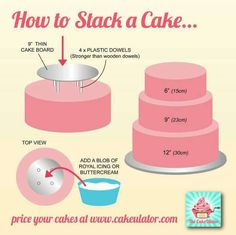 How to stack cakes. i think ive found a new hobby
