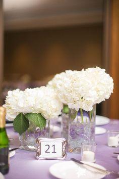 Wedding Centerpieces #receptiondecor #weddingphotography #hydrangea