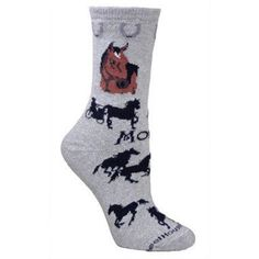 Morgan Horse Socks / Gray