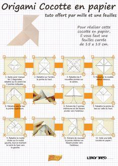 Cocotte en papier en origami