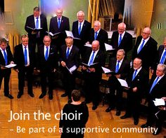 """Join the choir - Be part of a supportive community.  @ChrisRowbury blog with a lot of passion for music. - """"It's extraordinary how quickly a choir becomes a real community. There are plenty of stories of how supportive other choir members can be at difficult times: bereavement, relationship break-ups, bad health, loss of job, etc. http://blog.chrisrowbury.com/…/10-great-reasons-why-all-men…"""