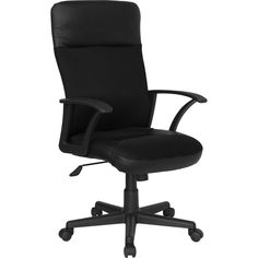 Flash Furniture High Back Black Leather / Mesh Combination Executive Swivel Office Chair CP-A142A01-GG