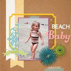 Beach Baby #scrapbook layout #CTMH