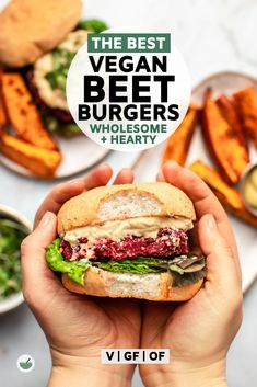 These Vegan Beet Burgers are crispy on the outside, tender on the inside, and packed with plant-based protein. They're naturally gluten-free and oven-baked, making them easy to prep and even easier to enjoy. Vegan Recipes Beginner, Healthy Recipes On A Budget, Low Carb Dinner Recipes, Vegetarian Recipes Dinner, Budget Meals, Vegan Dinners, Healthy Food, Healthy Eating, Vegan Beet Burger