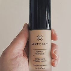 Caroline Watt @carolinewatt received her perfect match. Feed your skin while looking flawless. MATCHCo's custom tinted hydrating formula is the best of both skin health and beauty in one #regram #tgif #mynameisonthebottle #wewokeuplikethis