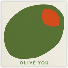 Olive You - cute card ideas for a martini lover - Paperless Post