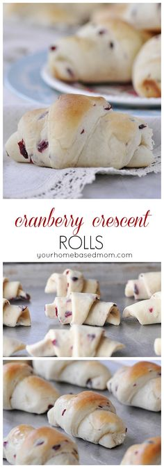 Cranberry Crescent Rolls - collage
