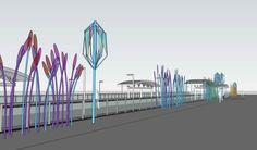 Rendering of Fitzsimons Station art by Koryn Rolstad