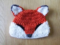 Crochet fox beanie {Available in any size or colour. Shipped to anywhere} Foxgloves beanie Crochet Fox, Crochet Hats, Sewing Basics, Crayons, Baby Hats, Knitting Projects, Baby Shower, Baby Knitting, Beanie