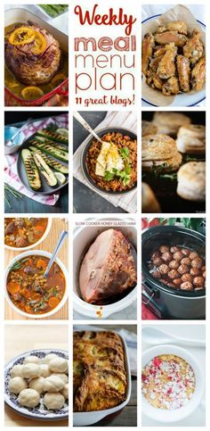 Weekly Meal Plan Week 75 – 11 great bloggers bringing you a full week of recipes including dinner, sides dishes, and desserts!