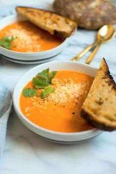 zanzibar carrot tomato soup vegan rezept kn del mittagessen und spaghetti. Black Bedroom Furniture Sets. Home Design Ideas