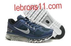 Mens Nike Air Max+ 2013 Navy Blue Grey White Shoes