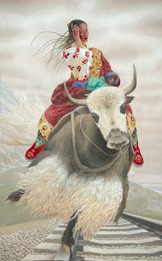 Wang Yiguang (Chinese: 王沂光) is a modern Chinese painter notable for his Tibetan paintings of flying people, yaks and sheeps.