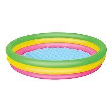 Pour Lison Piscine avec 3 boudins gonflables pour maintenir une bonne structure! Idéale pour l'été lorsque les enfants désirent s'amuser dans l'eau.