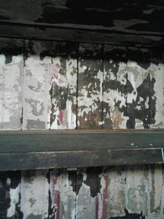 To remove old wall paper use a steamer and the paper will fall right off. Or keep it for a cool old look. :)