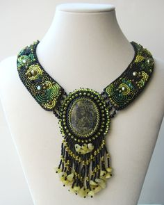 Totally Twisted Bangles & Beads: Forest Floor - Bead Embroidery Collar
