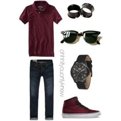 A fashion look from July 2015 featuring Aéropostale tops and Ray-Ban sunglasses. Browse and shop related looks. Lesbian Outfits, Tomboy Outfits, Cool Outfits, Casual Outfits, Men Casual, Tomboy Swag, Androgynous Fashion, Tomboy Fashion, Mens Fashion
