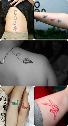 Teoria Criativa » Tattoos Fofas: Origami I like the paper airplane