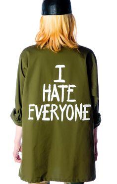 Jac Vanek I Hate Everyone Vintage Army Jacket | Dolls Kill