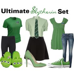 Ultimate Slytherin Set, created by nearlysamantha on Polyvore