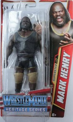"""WWE Mark Henry Wrestle Mania Heritage Figure - Series #26 by Mattel. $14.75. Collect all your favorites WWE Superstars. Features extreme articulation, amazing accuracy and authentic details. Bring home the officially licensed WWE action. WWE WrestleMania 22 inspired Series #26 action figure in 7"""" Superstar Scale. Kids can recreate their favorite WWE matches. From the Manufacturer World Wrestling Entertainment Superstar Figure Collection: Bring home the ac... Mark Henry, Wwe Toys, Wwe Action Figures, Stone Cold Steve, Wwe Stuff, Shawn Michaels, Kevin Owens, Undertaker, Wrestling"""