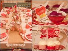 Vintage Valentine Tables
