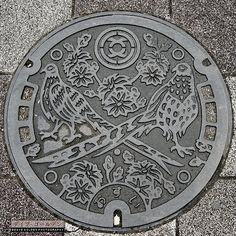Stunning manhole covers in Japan.