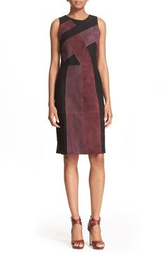 Parker 'Greyson' Colorblock Suede Sheath Dress available at #Nordstrom