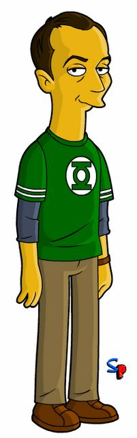 Big Bang Theory + Simpsons You know you've made an impression when the Simpsons make you a cartoon!! *BAZINGA!!*