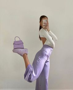 Fashion Tips Outfits .Fashion Tips Outfits Lila Outfits, Purple Outfits, Neue Outfits, Cute Casual Outfits, Insta Outfits, Pastel Outfit, Instagram Outfits, Outfits For Photoshoot, Rock Outfits