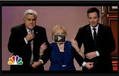 Betty White was on the Tonight Show last night, February 4, 2014. Watch her interview by clicking on the picture. Be sure to repin this post if you love Betty White! #tonightshow #bettywhite